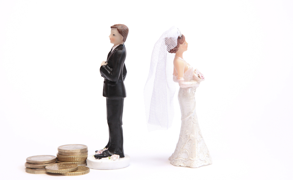 married couple in marital transition